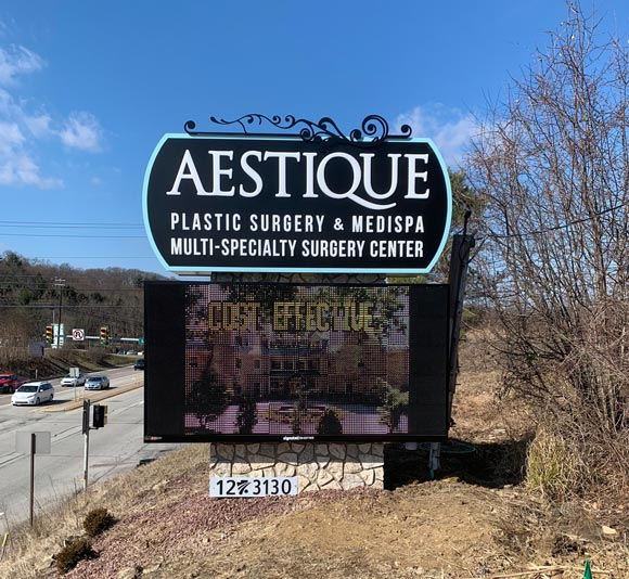 Aestique Sign with Sign Installation in Murrysville, PA