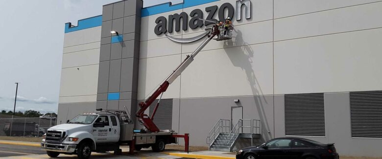 Amazon Sign with Sign Installation in Somerset, PA