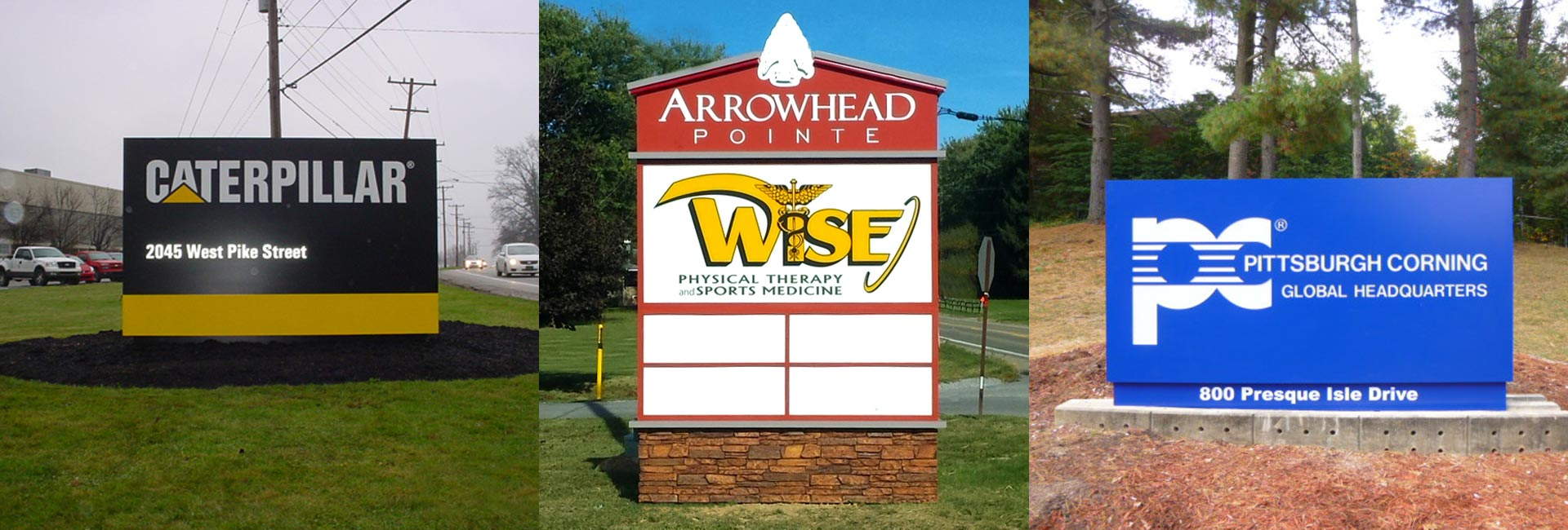 Outdoor Signs in Pittsburgh, Monroeville, Uniontown, Indiana, PA